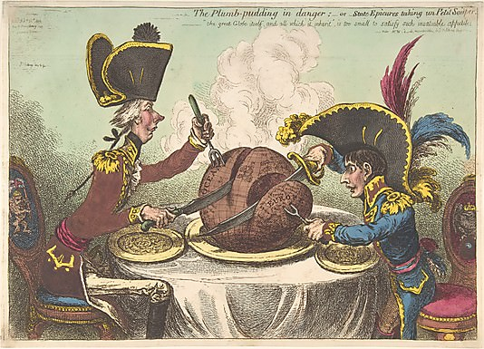 James Gillray: The Plumb-Pudding in Danger.jpg