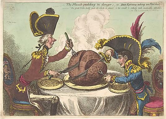 James Gillray: The Plumb-Pudding in Danger.jpg