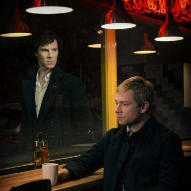 Jude Law as Watson and Robert Downey Jr as Sherlock Holmes in the 2009 film Sherlock Holmes