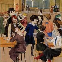 Rudolf Schlichter, Damenkneipe (Ladies' Dive) (1923)