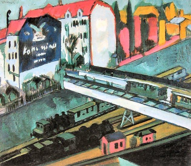 Ernst Ludwig Kirchner, Tram and Rail, 1914