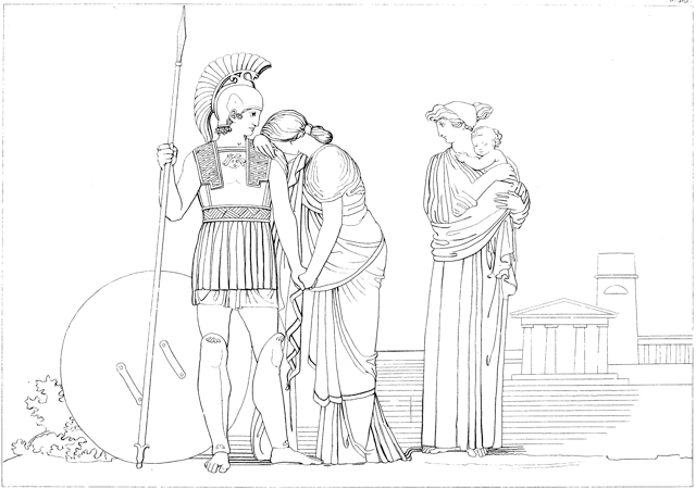 John Flaxman: The Meeting of Hector & Andromache, 1795