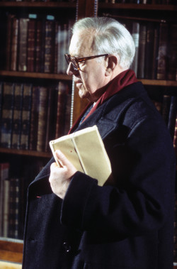 Alec Guinness as George Smiley in the BBC miniseries <i>Tinker, Tailor, Soldier, Spy</i>, 1979