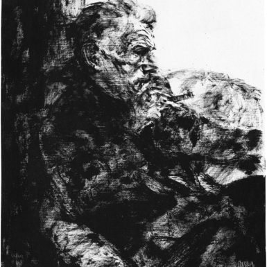 'Samuel Beckett au cigare,' 1970; drawing by Avigdor Arikha, who died in 2010. An exhibition of more than fifty of Arikha's paintings, pastels, and drawings—many of which have never been shown before—will be on view at the Marlborough Gallery, New York City, March 20–April 21, 2012.
