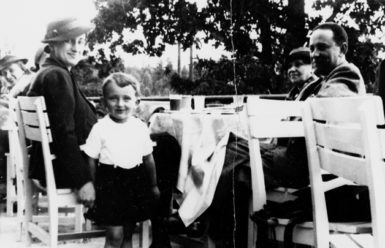 Louis Begley at the age of four, at his grandparents' country house in Poland, summer 1938