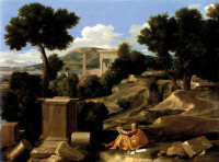 Nicolas Poussin: Landscape with Saint John on Patmos, 1640