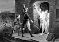 Ethan Allen capturing Fort Ticonderoga, May 1775; nineteenth-century engraving