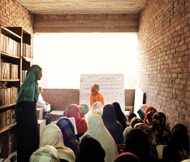 Girls at a school run by Salafyo Costa, a group that is trying to change the Salafi movement, Cairo, September 2011
