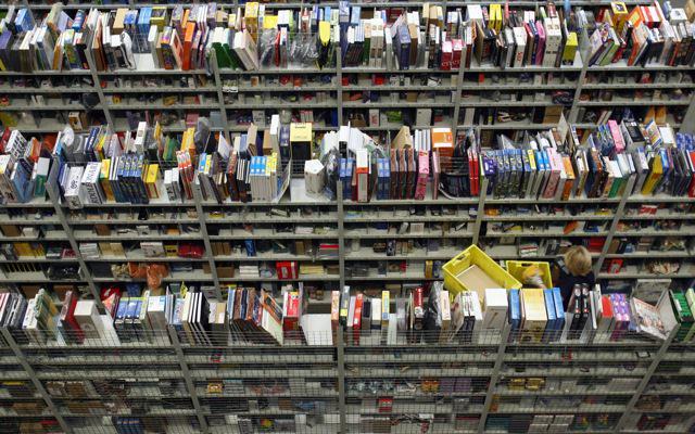 Books at an Amazon logistics center, Bad Hersfeld, Germany, October 23, 2007