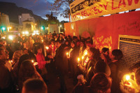 A vigil against South Africa's Secrecy Bill in front of Parliament, Cape Town, September 2011