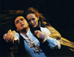 José Carreras as Werther and Frederica von Stade as Charlotte in <i>Werther</i>, Jules Massenet's opera based on Johann Wolfgang von Goethe's novel. Their 1980 recording, conducted by Sir Colin Davis with the orchestra of the Royal Opera House, Covent Garden, has just been reissued by Decca.