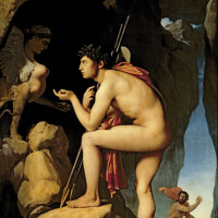Jean-Auguste-Dominique Ingres: Oedipus and the Sphinx, 1808