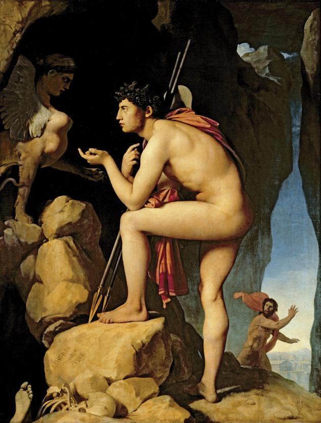 Jean-Auguste-Dominique Ingres: Oedipus and the Sphinx, 1808