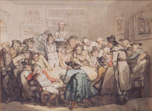Thomas Rowlandson: The Hazard Room, 1792
