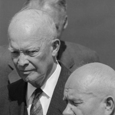 Dwight D. Eisenhower and Nikita Khrushchev at Andrews Air Force Base, Maryland, September 1959