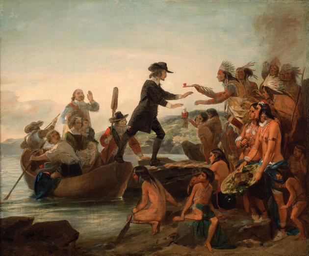 Alonzo Chappel: The Landing of Roger Williams in 1636, 1857