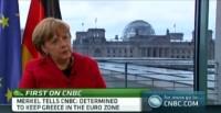 German Chancellor Angela Merkel during an interview in Berlin, March 16, 2012