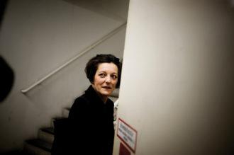 Herta Müller in Frankfurt, Germany, shortly after winning the Nobel Prize for Literature, October 2009