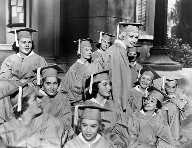 Betty Grable, top right, in How to Be Very, Very Popular, 1955
