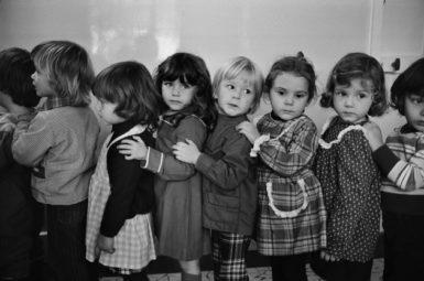 French children at an école maternelle, or free public nursery school, Neuilly-sur-Seine