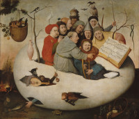 'The Concert in an Egg'; painting after Hieronymus Bosch, circa 1561