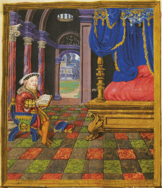 Portrait of Henry VIII from The Psalter of Henry VIII, circa 1540