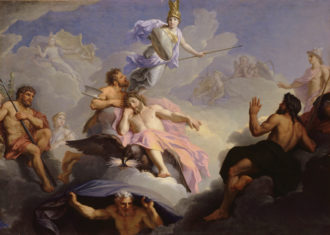 René Antoine Houasse: Birth of Minerva, Fully Armed, from the Head of Jupiter; late seventeenth century