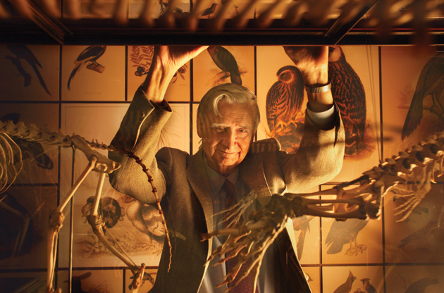 Edward O. Wilson at the 'Darwin' exhibition at the American Museum of Natural History, New York City, 2005