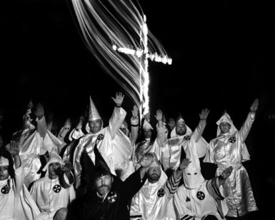 A Ku Klux Klan rally in Hico, Texas, 1990