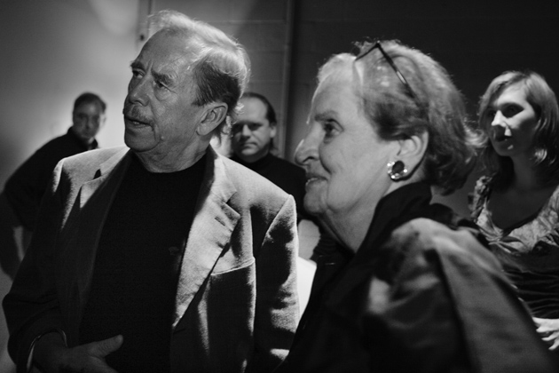 Václav Havel and Madeleine Albright at a Plastic People of the Universe concert, Washington, D.C., May 2005