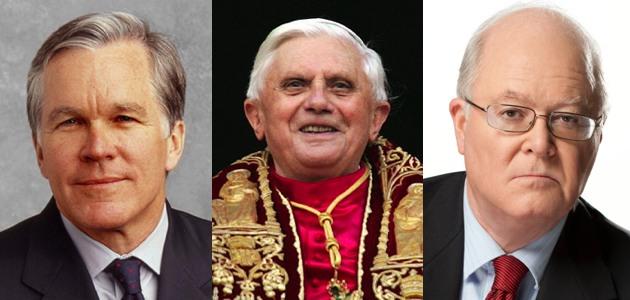 Bill Keller, Pope Benedict, Bill Donohue.jpg