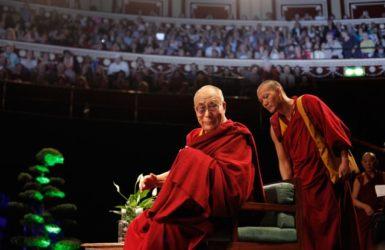 The Dalai Lama speaking at The Royal Albert Hall, London, June 19, 2012