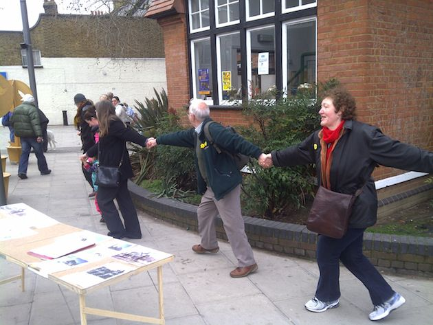 Human chain around Willesden Library.jpg
