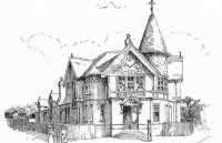 An 1894 drawing of Willesden Green Library