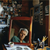 John Irving at his summer house in Pointe au Baril, Ontario, 2009