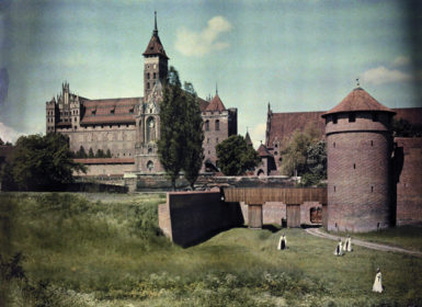 Marienburg Castle, the former headquarters of the Teutonic Order, Marienburg, East Prussia, 1928. The castle, in what is now Poland, was damaged significantly during World War II, but has since been mostly reconstructed.