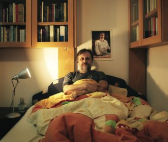 Slavoj Žižek at his apartment in Ljubljana, Slovenia, 2010