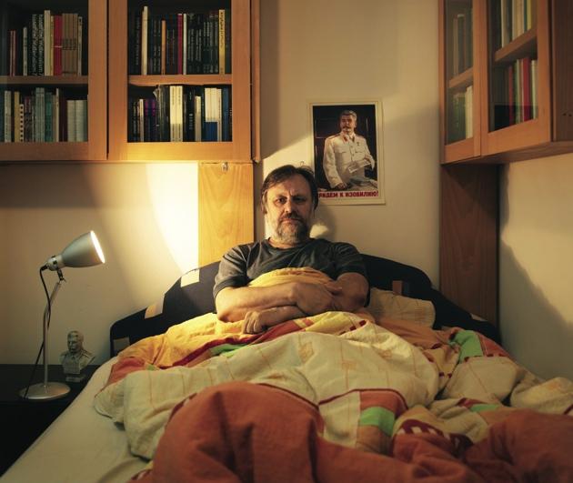 Slavoj Žižek at his apartment in Ljubljana, Slovenia, 2010