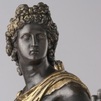 Antico: Apollo Belvedere, c. 1490, bronze with gilding and silvering, detail.