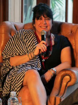E.L. James discussing Fifty Shades of Grey in Coral Gables, Florida, April 29, 2012