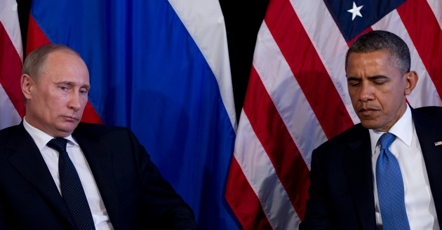 US President Barack Obama and Russian President Vladimir Putin during the G20 Summit in Los Cabos, Mexico, June 18, 2012