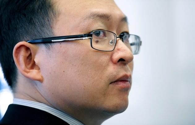 Chinese writer Yu Jie at the National Press Club in Washington, January 18, 2012