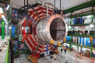Part of CERN's Large Hadron Collider under construction, Cessy, France, 2007