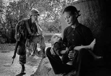 A US soldier on a routine operation in Quang Ngai, Vietnam, 1967