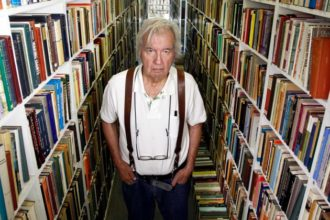 Larry McMurtry in his bookstore in Archer City, Texas, August 6, 2012