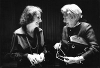 Pauline Kael with Janet Flanner at the National Book Awards, where she was honored 