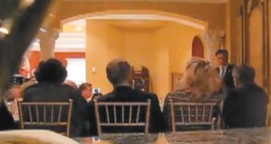 A still from a video of Mitt Romney talking to wealthy donors at a fund-raiser in Boca Raton, Florida, May 17, 2012
