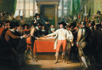 Benjamin West: Cromwell Dissolving the Long Parliament, 1782