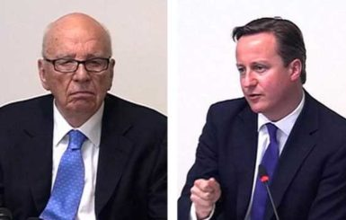 Rupert Murdoch (left) and British Prime Minister David Cameron (right), during separate appearances before the Leveson inquiry earlier this year.