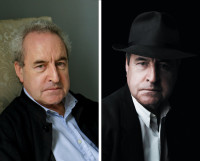 John Banville, from the dust jacket of Ancient Light, and Banville as Benjamin Black, from the dust jacket of Vengeance